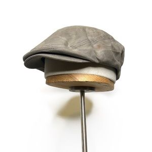 Lucky Brand Distressed Flat Cap with Snap